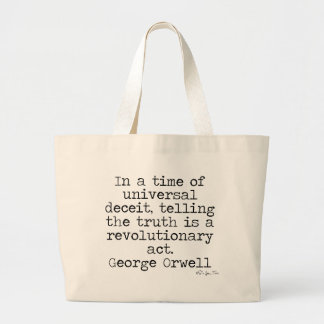 Orwell Truth Large Tote Bag