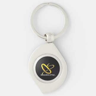 OS By Design Key Chain Silver-Colored Swirl Key Ring