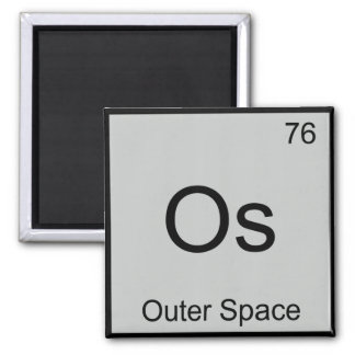 Os - Outer Space Chemistry Element Symbol T-Shirt Fridge Magnets