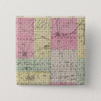 Osage County, Kansas 15 Cm Square Badge