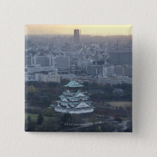 Osaka Castle 15 Cm Square Badge