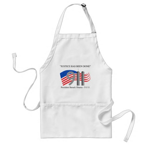 Osama Bin Laden - Justice Has Been Done Aprons
