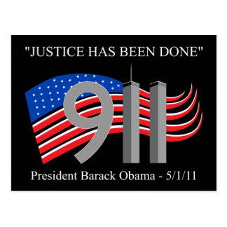 Osama Bin Laden - Justice Has Been Done Postcard