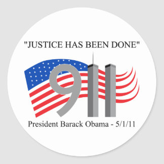 Osama Bin Laden - Justice Has Been Done Round Sticker