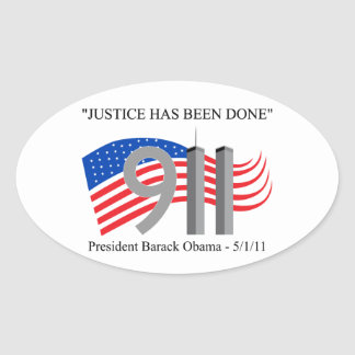 Osama Bin Laden - Justice Has Been Done Oval Stickers