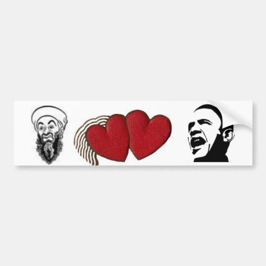 Osama Loves Obama Bumper Sticker