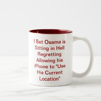 Osama Regrets his iPhone Two-Tone Mug