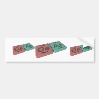 Osar as Os Osmium and Ar Argon Bumper Sticker