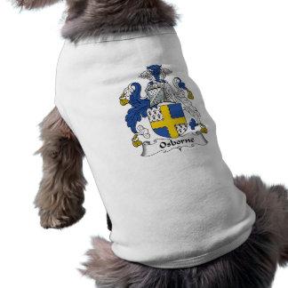 Osborne Family Crest Sleeveless Dog Shirt