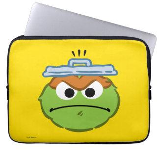 Oscar Angry Face Laptop Sleeve