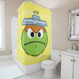 Oscar Angry Face Shower Curtain