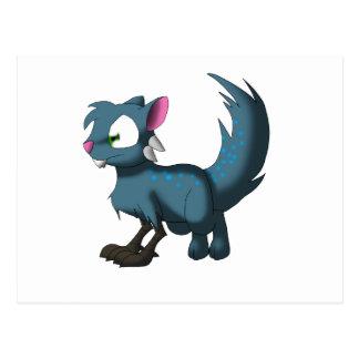 Oscar Chinchilla Cat Bird Dragon Hybrid Postcard
