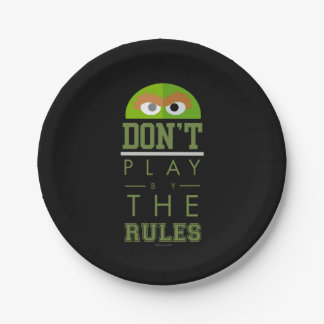 Oscar Don't Play by Rules Paper Plate