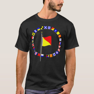 Oscar Man Overboard Nautical Signal Flag T-Shirt