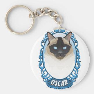 Oscar Original Keyring Basic Round Button Key Ring