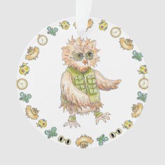 Oscar Owl Khaki Christmas Ornament
