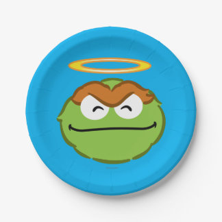 Oscar Smiling Face with Halo 7 Inch Paper Plate