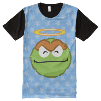 Oscar Smiling Face with Halo All-Over Print T-Shirt