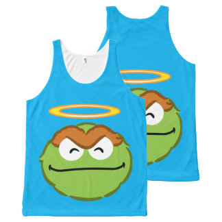 Oscar Smiling Face with Halo All-Over Print Tank Top