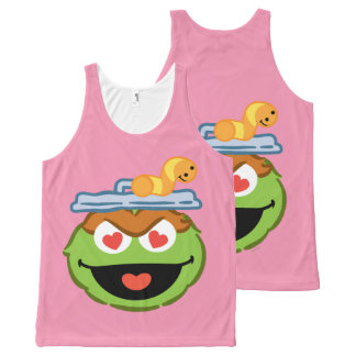Oscar Smiling Face with Heart-Shaped Eyes All-Over Print Tank Top