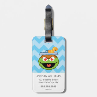 Oscar Smiling Face with Heart-Shaped Eyes Luggage Tag