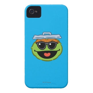 Oscar Smiling Face with Sunglasses iPhone 4 Covers