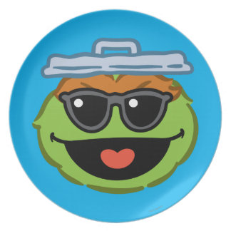 Oscar Smiling Face with Sunglasses Plate