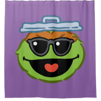 Oscar Smiling Face with Sunglasses Shower Curtain