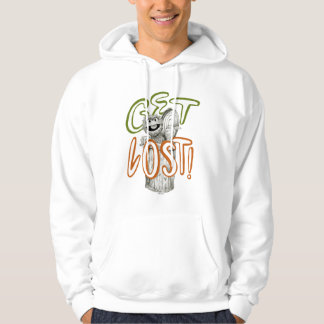 Oscar the Grouch B&W Sketch Drawing Hoodie