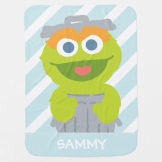 Oscar the Grouch Baby | Add Your Name Baby Blanket
