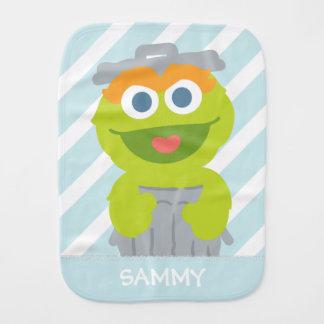 Oscar the Grouch Baby | Add Your Name Burp Cloth
