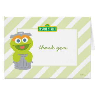 Oscar the Grouch Baby Birthday Thank You Card