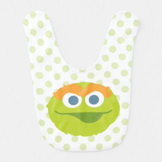 Oscar the Grouch Big Face Bib