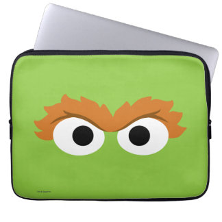 Oscar the Grouch Big Face Laptop Sleeve