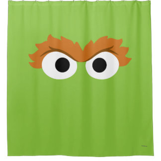 Oscar the Grouch Big Face Shower Curtain