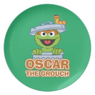 Oscar the Grouch Classic Style Party Plates
