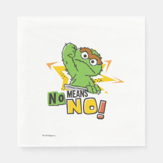Oscar the Grouch Comic Paper Napkins