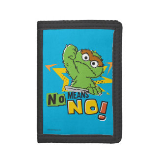 Oscar the Grouch Comic Trifold Wallet