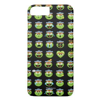 Oscar the Grouch Emoji Pattern iPhone 8 Plus/7 Plus Case