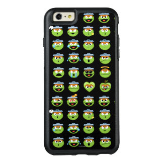Oscar the Grouch Emoji Pattern OtterBox iPhone 6/6s Plus Case