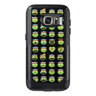 Oscar the Grouch Emoji Pattern OtterBox Samsung Galaxy S7 Case