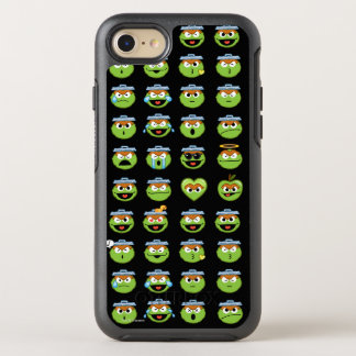 Oscar the Grouch Emoji Pattern OtterBox Symmetry iPhone 8/7 Case