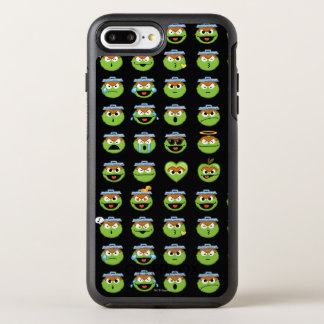 Oscar the Grouch Emoji Pattern OtterBox Symmetry iPhone 8 Plus/7 Plus Case