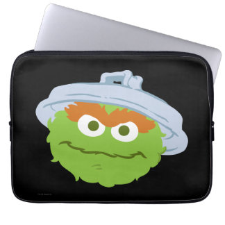 Oscar the Grouch Face Laptop Sleeve
