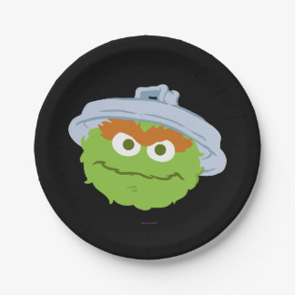 Oscar the Grouch Face Paper Plate