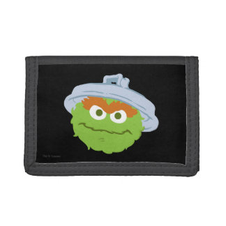 Oscar the Grouch Face Tri-fold Wallets
