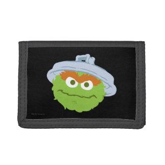 Oscar the Grouch Face Trifold Wallet