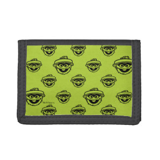 Oscar the Grouch Green Pattern Tri-fold Wallets