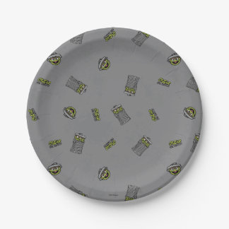 Oscar the Grouch | Grey Pattern 7 Inch Paper Plate
