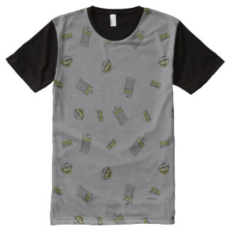 Oscar the Grouch | Grey Pattern All-Over Print T-Shirt